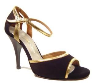 Golden Women's Tango Dance Shoe
